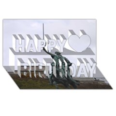 Washington Statue Happy Birthday 3d Greeting Card (8x4)  by trendistuff