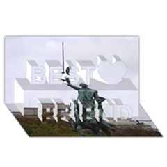 Washington Statue Best Friends 3d Greeting Card (8x4)  by trendistuff
