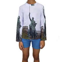 Washington Statue Kid s Long Sleeve Swimwear