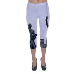 Washington Statue Capri Winter Leggings