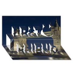 Tower Bridge Best Friends 3d Greeting Card (8x4)  by trendistuff