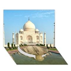Taj Mahal Circle Bottom 3d Greeting Card (7x5)