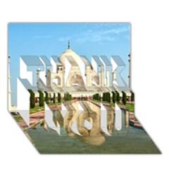 Taj Mahal Thank You 3d Greeting Card (7x5)  by trendistuff