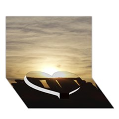 Sunset Stonehenge Heart Bottom 3d Greeting Card (7x5)