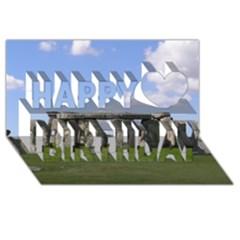 Stonehenge Happy Birthday 3d Greeting Card (8x4)  by trendistuff