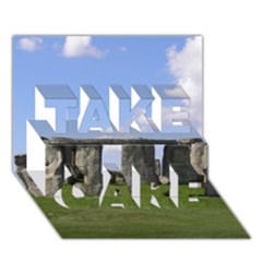 Stonehenge Take Care 3d Greeting Card (7x5)  by trendistuff