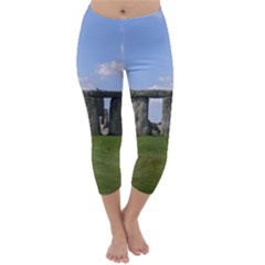 Stonehenge Capri Winter Leggings  by trendistuff