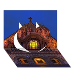 Stanford Chruch Heart 3d Greeting Card (7x5)  by trendistuff