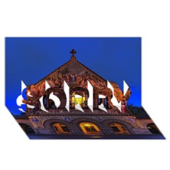 Stanford Chruch Sorry 3d Greeting Card (8x4)  by trendistuff