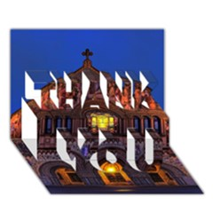 Stanford Chruch Thank You 3d Greeting Card (7x5)  by trendistuff