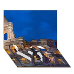 Rome Colosseum 2 Love Bottom 3d Greeting Card (7x5)  by trendistuff