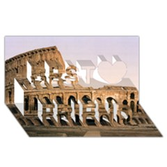 Rome Colosseum Best Friends 3d Greeting Card (8x4)  by trendistuff