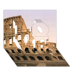 Rome Colosseum Love 3d Greeting Card (7x5)  by trendistuff