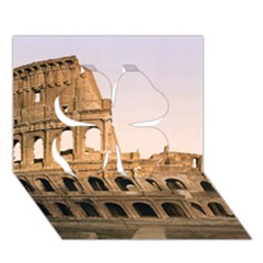Rome Colosseum Clover 3d Greeting Card (7x5)
