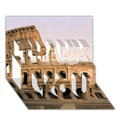 Rome Colosseum Thank You 3d Greeting Card (7x5)  by trendistuff