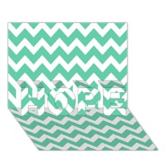 Chevron Pattern Gifts Hope 3d Greeting Card (7x5)  by creativemom