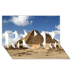 Pyramid Giza Mom 3d Greeting Card (8x4)