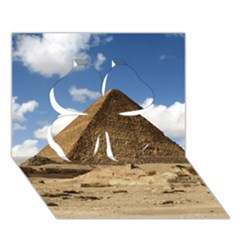 Pyramid Giza Clover 3d Greeting Card (7x5)  by trendistuff