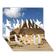Pyramid Giza Thank You 3d Greeting Card (7x5)  by trendistuff