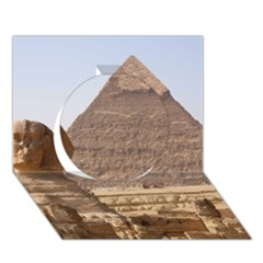 Pyramid Egypt Circle 3d Greeting Card (7x5)  by trendistuff