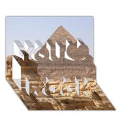 Pyramid Egypt You Rock 3d Greeting Card (7x5)  by trendistuff