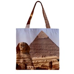 Pyramid Egypt Zipper Grocery Tote Bags by trendistuff