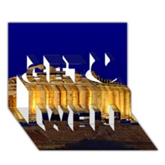 Parthenon 2 Get Well 3d Greeting Card (7x5)