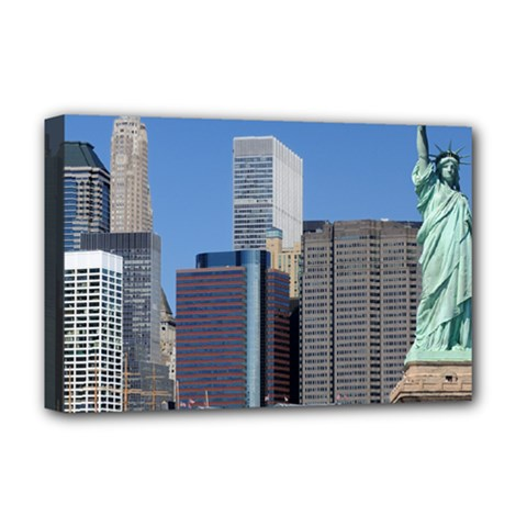 Ny Liberty 2 Deluxe Canvas 18  X 12   by trendistuff
