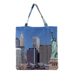 Ny Liberty 2 Grocery Tote Bags by trendistuff