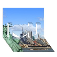 Ny Liberty 1 I Love You 3d Greeting Card (7x5)  by trendistuff