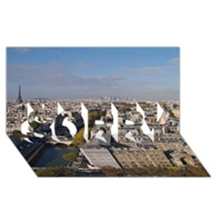 Notre Dame Sorry 3d Greeting Card (8x4)  by trendistuff