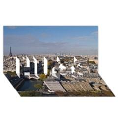 Notre Dame Hugs 3d Greeting Card (8x4)  by trendistuff