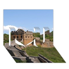 Great Wall Of China 3 I Love You 3d Greeting Card (7x5)  by trendistuff