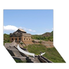 Great Wall Of China 3 Circle Bottom 3d Greeting Card (7x5)  by trendistuff