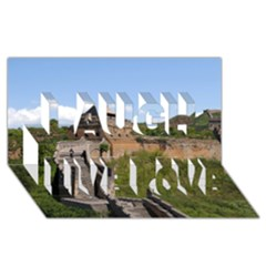 Great Wall Of China 3 Laugh Live Love 3d Greeting Card (8x4)  by trendistuff
