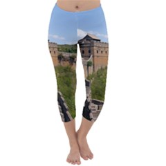 Great Wall Of China 3 Capri Winter Leggings