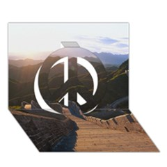 Great Wall Of China 2 Peace Sign 3d Greeting Card (7x5)
