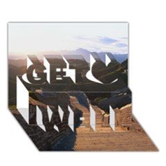 Great Wall Of China 2 Get Well 3d Greeting Card (7x5)  by trendistuff
