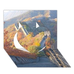 Great Wall Of China 1 Heart 3d Greeting Card (7x5)  by trendistuff