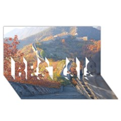 Great Wall Of China 1 Best Sis 3d Greeting Card (8x4)