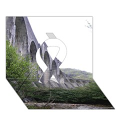 Glenfinnan Viaduct 2 Ribbon 3d Greeting Card (7x5)  by trendistuff