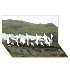 Glenfinnan Viaduct 1 Sorry 3d Greeting Card (8x4)