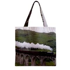 Glenfinnan Viaduct 1 Zipper Grocery Tote Bags by trendistuff