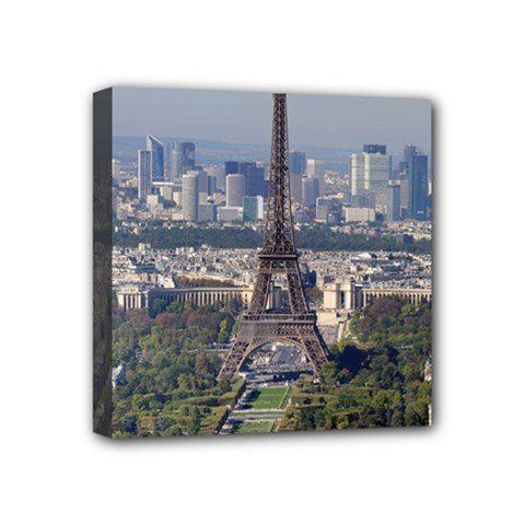 Eiffel Tower 2 Mini Canvas 4  X 4  by trendistuff