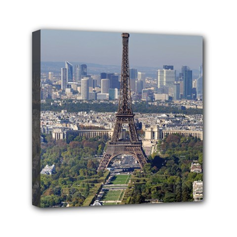 Eiffel Tower 2 Mini Canvas 6  X 6  by trendistuff