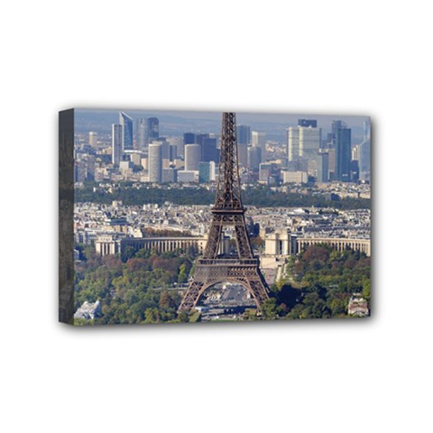 Eiffel Tower 2 Mini Canvas 6  X 4  by trendistuff