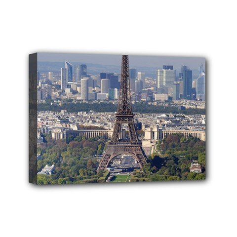 Eiffel Tower 2 Mini Canvas 7  X 5  by trendistuff