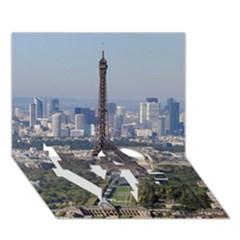 Eiffel Tower 2 Love Bottom 3d Greeting Card (7x5)  by trendistuff