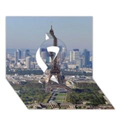 Eiffel Tower 2 Ribbon 3d Greeting Card (7x5)  by trendistuff