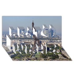 Eiffel Tower 2 Best Wish 3d Greeting Card (8x4)